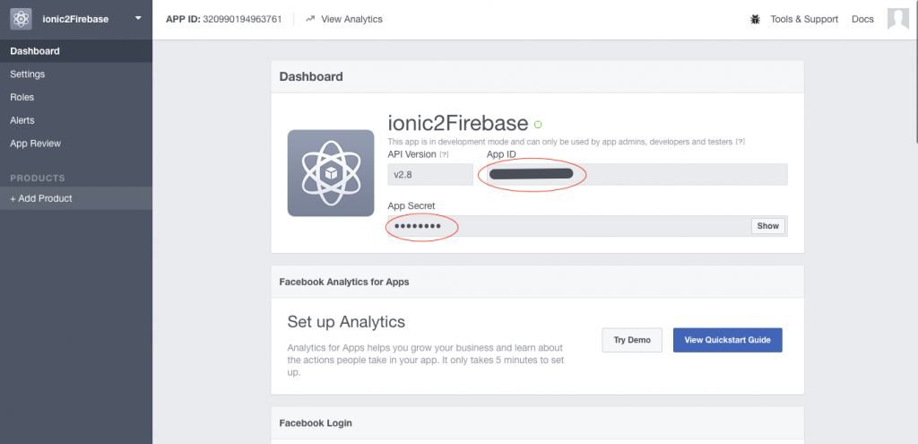 Ionic 3 and Firebase Facebook authentication using AngularFire2